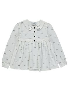 Cat Print Long Sleeved Top, read reviews and buy online at George at ASDA. Shop from our latest range in Kids. Your little one will look purr-fect in this ca...