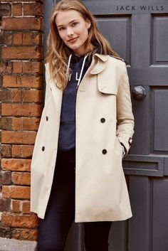 The trench coat is a staple in every wardrobe! Make it a key piece in yours with this from Jack Wills.