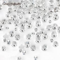 Luxury Crystal Clear ss3-ss40 Glass Nail Art Rhinestones For Nail Art Charms 3D Decoration Non hotfix Flat Back Stones