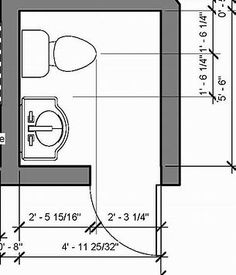 Minimum size requirements for powder rooms is simple - Small half bathroom layout ...
