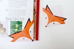 Woodland Animal Crafts - Fox Corner Bookmarks How To - seriously cute!