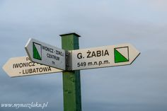 Szlak Iwonicz-Zdrój - Żabia Góra - Przymiarki - widokowa trasa Polish Mountains, Signs, Novelty Signs, Signage, Dishes, Sign