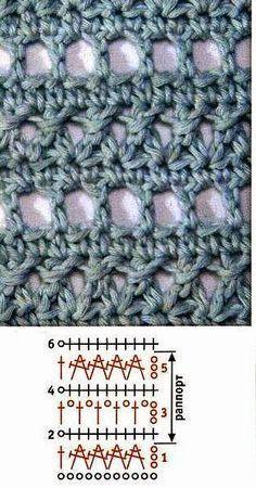 Beautiful Crochet Stitches - m Crochet Diy, Crochet Motif, Crochet Designs, Crochet Patterns, Crochet Gratis, Crochet Stitches Chart, Crochet Diagram, Knitting Stitches, Confection Au Crochet