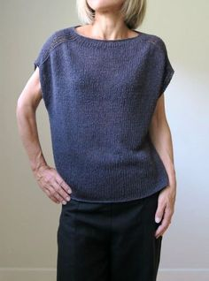 Ravelry: Construction Zone pattern by Heidi Kirrmaier Summer Knitting, Easy Knitting, Rowan Knitting, Pullover Mode, Knitting Designs, Sweater Fashion, Knitwear, Knitting Patterns, Knit Crochet