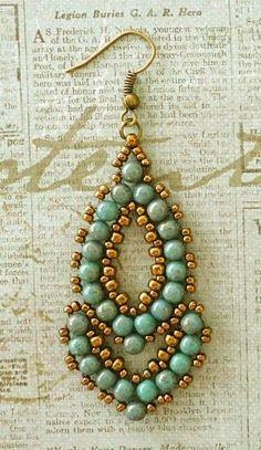 Best Seed Bead Jewelry  2017  Lindas Crafty Inspirations: Esmeralda Earrings  More samples