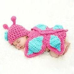 Ukamshop Baby Newborn 0-9M Häkelarbeit Mini nette weiche Kleidung Foto Outfits (rosa Schmetterling) Ukamshop http://www.amazon.de/dp/B00N4XHQJ8/ref=cm_sw_r_pi_dp_WaIFub0KREZH7