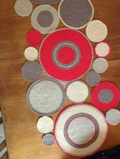 Crochet Circles, Crochet Mandala, Crochet Motif, Crochet Doilies, Crochet Yarn, Crochet Patterns, Knit Rug, Circle Rug, Rug Inspiration