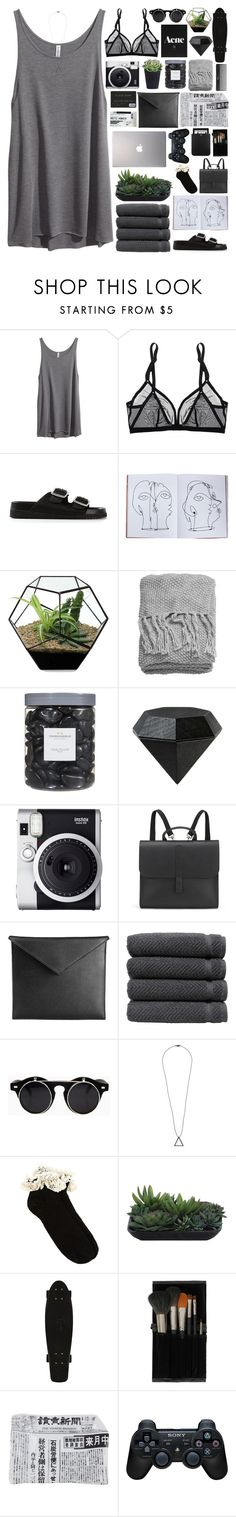 """""""Untitled #23"""" by magiomi ❤ liked on Polyvore featuring H&M, Eres, Senso, Assouline Publishing, Threshold, Areaware, Fuji, Danielle Foster, Mark/Giusti and Linum Home Textiles"""