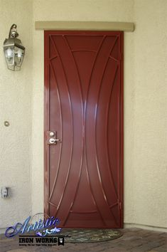Wrought Iron Security Door with perforated privacy screen  Model: Talas - SD0353