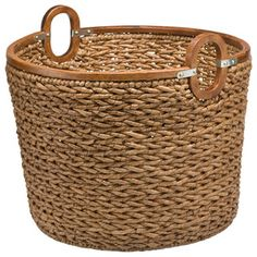 Seagrass baskets like this one are strong. I love their look. I've read that the seagrass used to make them comes from farms that grow it, not from the sea. I hope so because I know it's a habitat for some sealife.