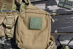 MEDIC Subdued Green PVC Velcro Patch on pouch