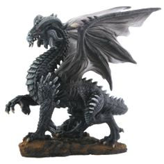 Dark Dragon Statue - SC7963 by Medieval Collectibles