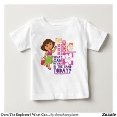 Dora The Explorer | What Can We Build In The Sand? T-Shirt. Producto disponible en tienda Zazzle. Vestuario, moda. Product available in Zazzle store. Fashion wardrobe. Regalos, Gifts. Trendy tshirt. #camiseta #tshirt