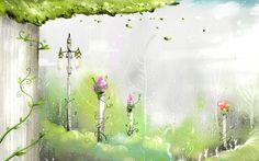 Handpainted Fantasy Wallpaper Wallpapers HD Wallpapers