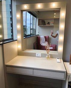 Indian Bedroom Decor, Bedroom Decor For Teen Girls, Small Room Bedroom, Room Ideas Bedroom, Room Interior, Interior Design Living Room, Makeup Room Decor, Home Room Design, House Rooms