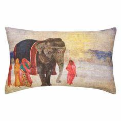 Cojín Paisaje Elefante