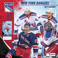 New York Rangers NHL Calendar 2017