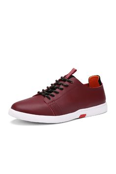 PINSV Men Handcrafted Casual Leather Shoes (Red) (Intl) | ราคา: ฿953.00 | Brand: PINSV | See info: http://www.topsellershoes.com/product/38692/pinsv-men-handcrafted-casual-leather-shoes-red-intl