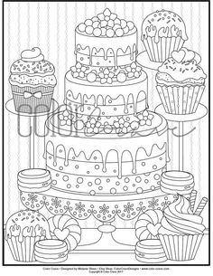 Amazon.com: Delicious Desserts: An Adult Coloring Book