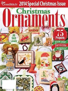 Just Cross Stitch Christmas Ornament Holiday Issue 2014 contains 75 projects in this annual issue.