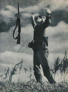 The moment of death of a German soldier in Ukraine, 1943