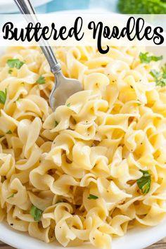 Egg Noodle Side Dish, Egg Noodle Dishes, Egg Noodle Recipes, Pasta Side Dishes, Pasta Sides, Side Dishes Easy, Food Dishes, Butter Noodle Recipe, Pasta Recipes