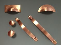 Copper kitchen Handles - Brushed Copper Handles Cups Knobs Pulls Bows for Kitchen Cabinet Doors & Drawers.