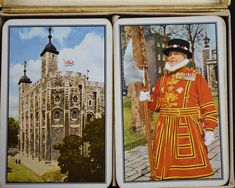 Piatnik Tower of London Playing Cards - Mid Century Beefeater Guard Twin Deck - Made in Austria by FunkyKoala on Etsy Wool Wall Hanging, Tapestry Wall Hanging, Tower Of London, Light Orange, Deck Of Cards, Austria, Flower Power