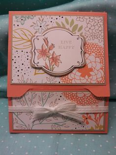 Stampin' it up with Belinda: Gift Card Holder
