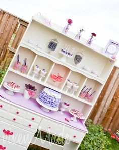 Turn a thrift store hutch into a fabulous display piece!
