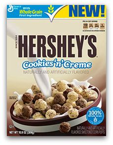Hershey's Cookies 'n' Creme breakfast cereal from Big G #MyBlogSpark #Giveaway Ad - MiscFinds4u