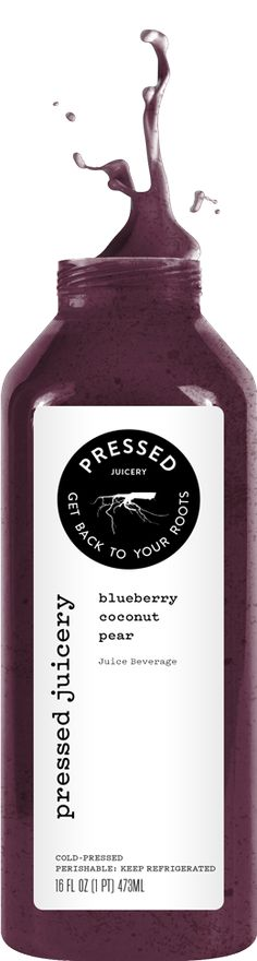 Pressed Juicery - Blueberry, Coconut, Pear