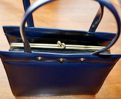 True Vintage Handtasche Blau 50 Jahre