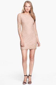 Diane von Furstenberg 'Zarita' Lace Sheath Dress available at #Nordstrom