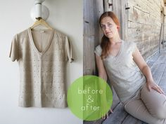 Fantastic DIY Comfy Shirt/ Shortned Sleeve