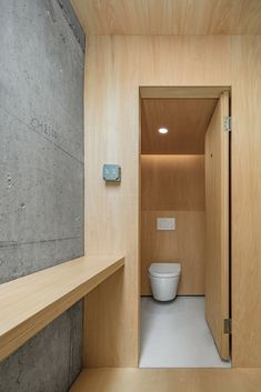Kooo Architects insert plywood-lined rooms in concrete hotel in Guangzhou Exposed Concrete, Concrete Floors, Plywood Interior, Large Curtains, Glazed Walls, Plywood Panels, Concrete Building, Concrete Structure, Types Of Rooms