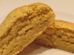 Savoury Biscuits (gluten, egg, nut corn and soy free. Savoury Biscuits, Cornbread, Free Food, Dairy Free, Breakfast Recipes, Breads, Gluten, Eggs, Ethnic Recipes