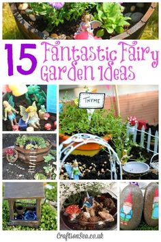 Fantastic Fairy Garden Ideas. Pinned by Learning and Exploring Through Play.