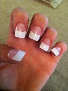 Photo of Nice Nails & Spa Fresno CA United States. Best French set I've ever had French Tip Acrylic Nails, French Nails, Short Pointed Nails, Wide Nails, Solar Nails, Dont Mess With Me, Hippie Chick, Nail Spa, Stylish Nails