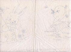 Vintage 1940 Vogart Quilt Blocks Stamped Embroidery Baby Animals #Vogart