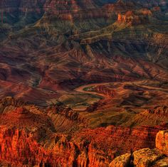 Colorado River Sunset Spires by James Watkins