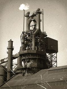 Blast furnace at Ford River Rouge plant.: