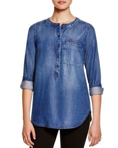 Petite Tapestry Embriodered, Blouson Femme, Blue (Mid Blue), 38New Look