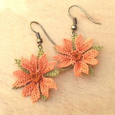 Turkish OYA Lace - Earring - Cosmos *2colors by DaisyCappadocia on Etsy