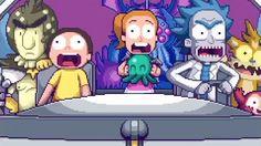 Intro de Rick & Morty par Paul Robertson et Ivan Dixon (en pixel art) - News | Catsuka