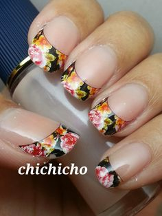 Easy French Nail Water Decal | chichicho~ nail art addicts