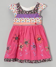 Loving this the Silly Sissy Fuchsia Floral Cap-Sleeve Dress - Infant, Toddler & Girls on #zulily! #zulilyfinds