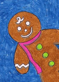 Art Projects for Kids: Gingerbread Man Drawing by paulaqwest