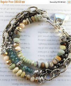 ON SALE bracelet opal bracelet aquamarine bracelet by soulfuledges