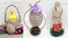 10 Jute craft Easter eggs ideas | Home decorating ideas handmade - YouTube Easter Egg Crafts, Easter Eggs, Sisal, Jute Crafts, Easter Crochet, Creations, Bunny, Decorating Ideas, Make It Yourself